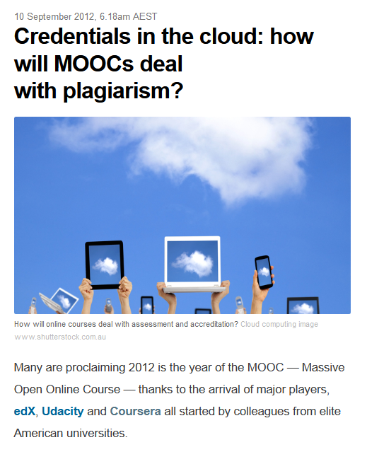 Accreditation and MOOCs: How about we just don't do it